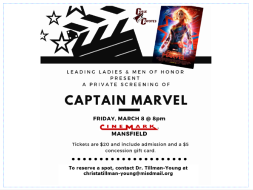 Captain Marvel Screening